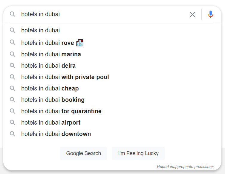 case study Google autocomplete